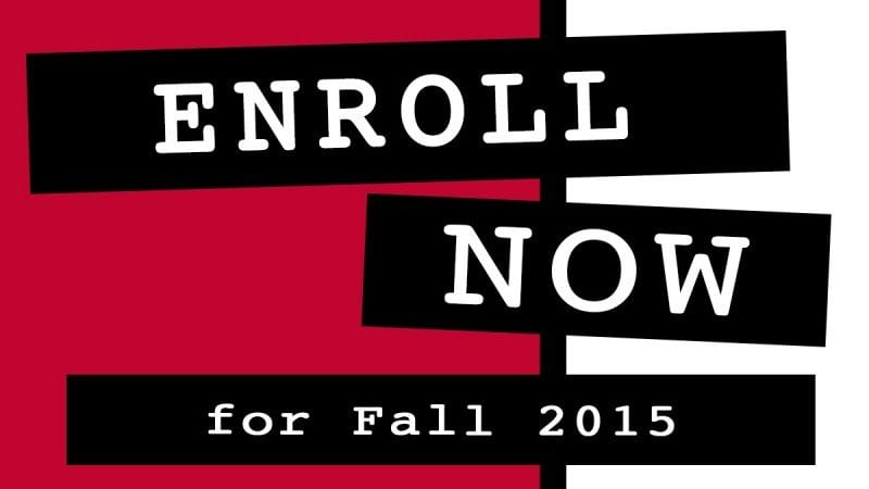 enroll now fall 2015 news