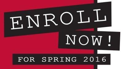 enroll now spring 2016