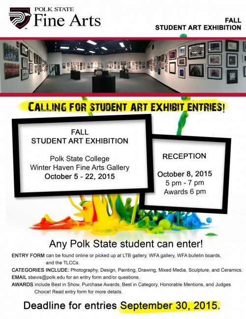 fall student art exhibition