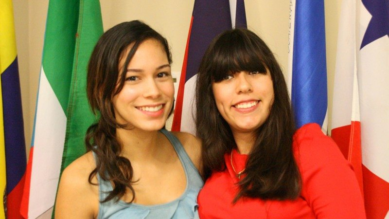 Kiara Rosa (L) and Ketsia Mendez were two of the three recipients of this year's Hispanic Heritage Month scholarships.