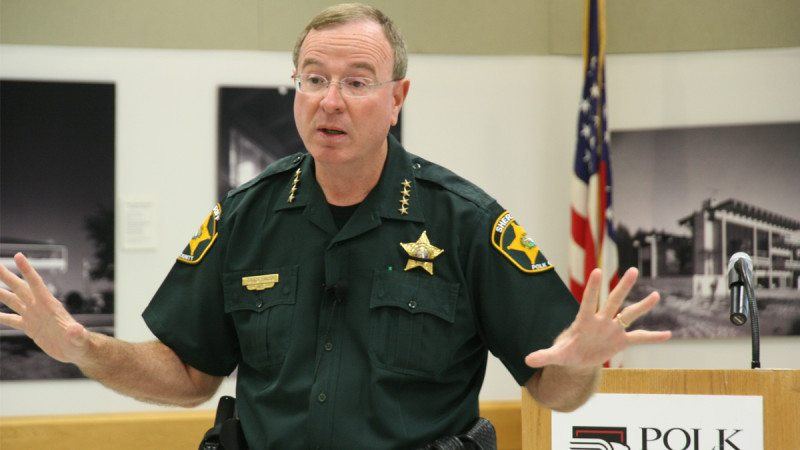 Polk County Sheriff Grady Judd spoke at Tuesday's Graduate Polk breakfast at Polk State Winter Haven.