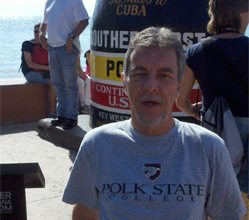 Howard Johnson, program specialist for the Advanced Manufacturing Talent Development Institute at Polk State, sported a College T-shirt in Key West recently.