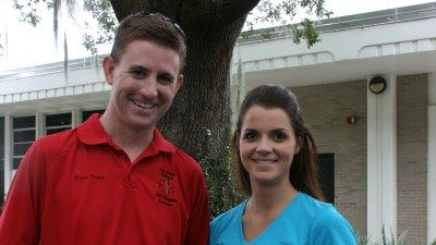 Brian Prince and Rachel Radford have been recognized as the Polk State EMS Program's Instructor and Preceptor of the Year, respectively. Both are alumni of the program.