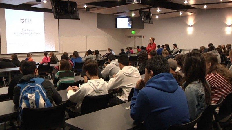 About 100 students from the Heartland Educational Consortium spent Saturday at the Polk State Clear Springs Advanced Technology Center, learning about STEM degree programs and career options.