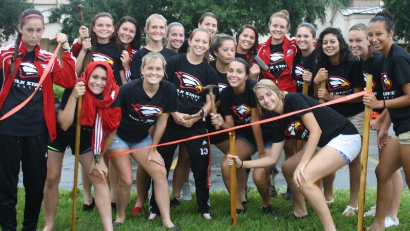 Polk State's soccer team recently helped with a fundraiser for kidsPACK, which provides weekend meals to lower-income children.