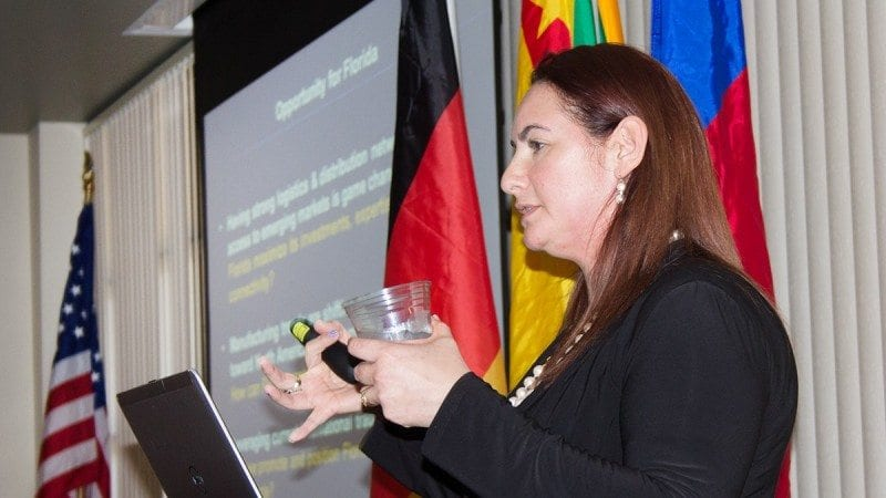 Florida Chamber of Commerce Global Outreach Director Alice Ancona spoke at Polk State Lakeland on Friday, where she described education as vital to developing an internationally competitive workforce.