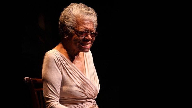 Maya Angelou, during her speaking engagement at Polk State Winter Haven in 2011.