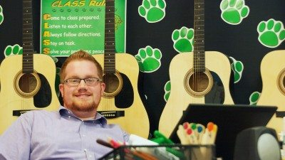 Polk State alumnus Jordan Burks is a music teacher at Auburndale Central Elementary.