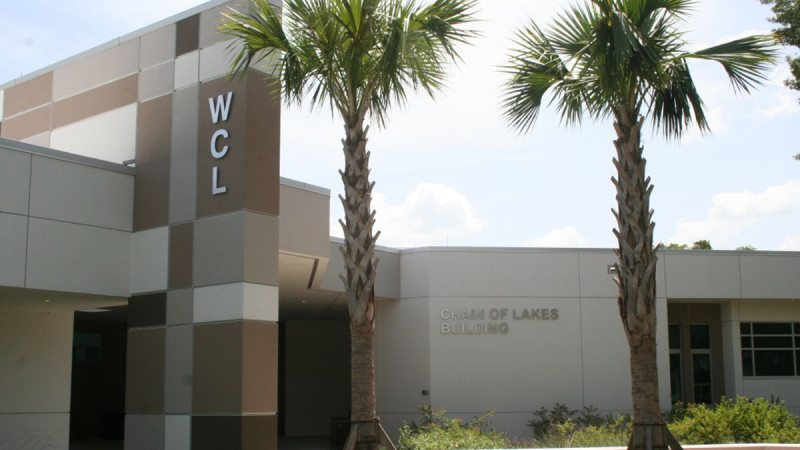 The Polk State Chain of Lakes Collegiate High School building has received LEED Gold certification from the U.S. Green Building Council.