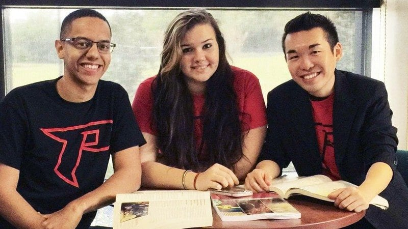 From left, Polk State Lakeland Student Government Association Vice President Xavier Santiago, Secretary Jessie Seaman and President Chris Ly.
