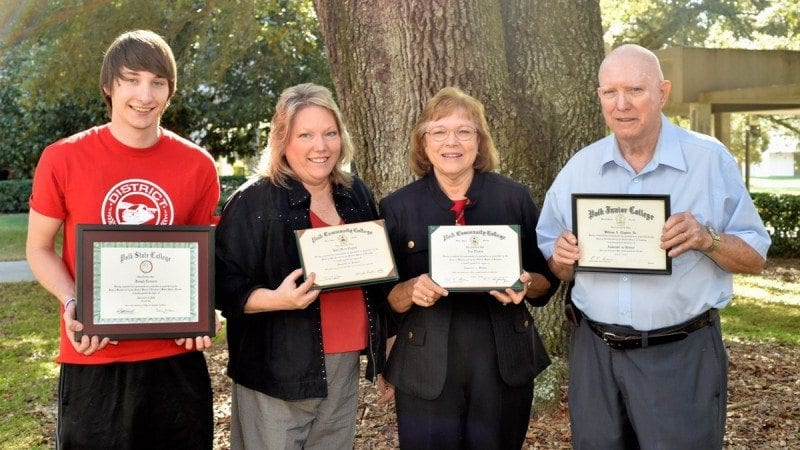 From left, Joseph Connors, Joan Connors, Ann and Bill Clayton. Joseph will graduate from Polk State on Dec. 17. He is the third generation of his family to graduate from the College.