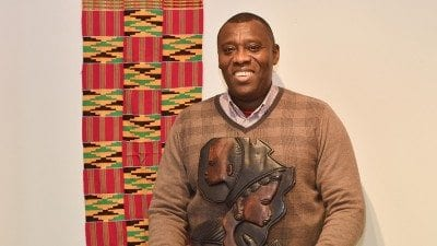 Polk State TRiO academic advisor John Fynn has collected more than 200 African masks and cloths, which will be displayed at Polk State Lakeland and the Polk State Lake Wales Arts Center during Black History Month.