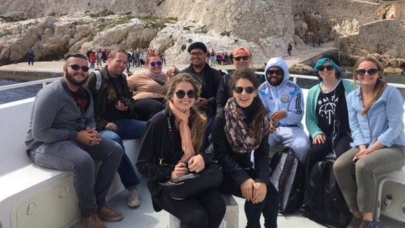Polk State Professors John Barberet and Holly Scoggins are currently leading a study-abroad trip in Marseille, France.