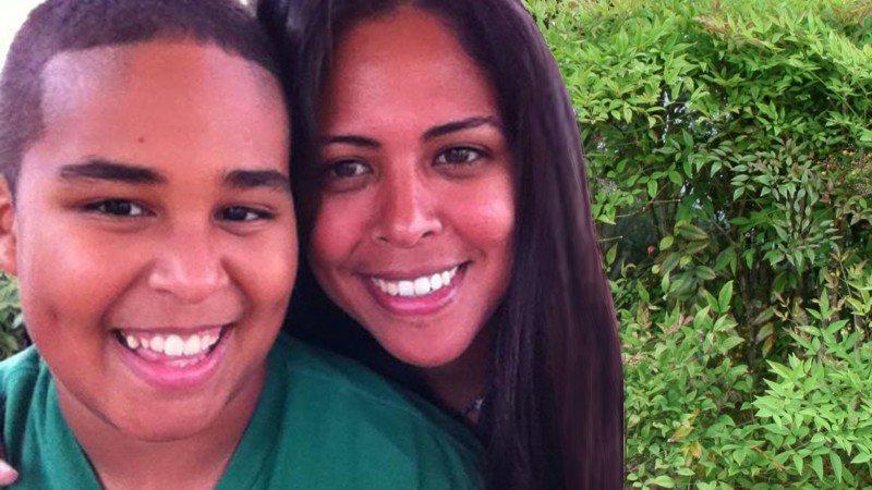 Tania Ortega with her son, Michael.
