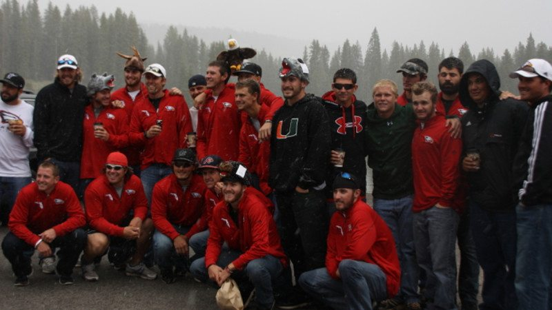 The Polk State Baseball team saw snowfall during their Sunday tour of Grand Mesa, where they had a snowball fight at more than 10,000 feet above sea level.