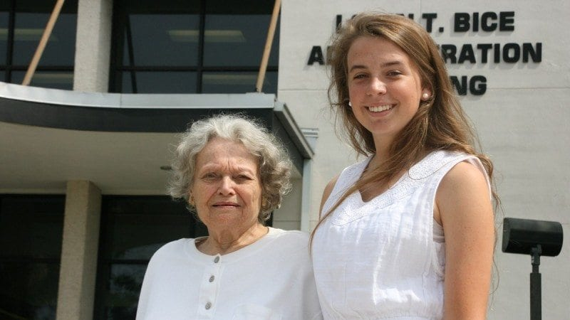 Shirley Keller and Hannah Long are the oldest and youngest graduates in Polk's upcoming spring commencement.