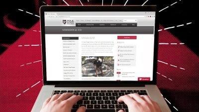 Admission & Aid webpage
