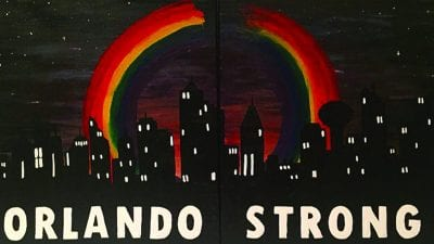 Orlando Strong, by Polk State graduate Jenny Nguyen, was created in honor of those who were lost in Orlando.