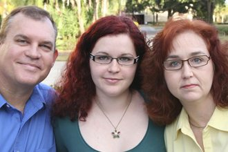 From left, Robert, Danielle and Stephanie Gerber are all graduating from Polk State this semester.