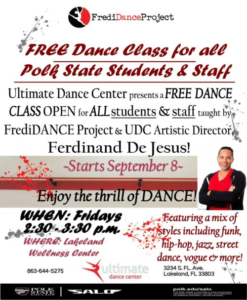 Fredidance Project event flyer
