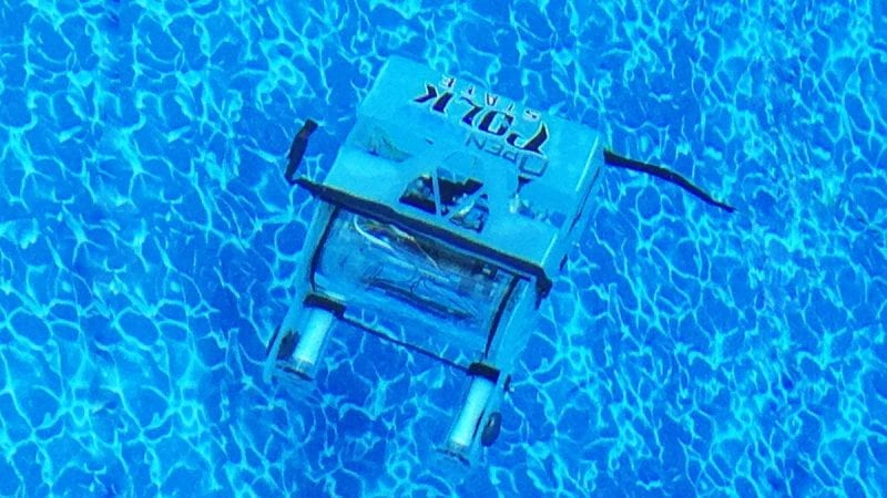 During a semester-long interdisciplinary project, students at Polk State Chain of Lakes Collegiate High School used a kit to build this underwater robot, which will be used to collect water samples from as deep as 300 feet. A student-created documentary about the project is being screened at the Blue Ocean Film Festival.