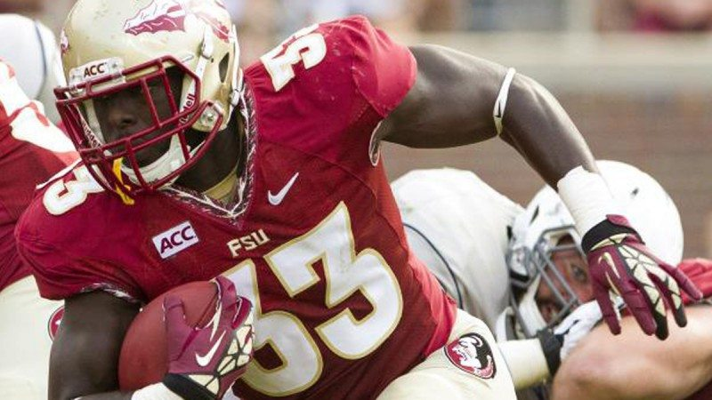 Former Polk student Freddie Stevenson now plays football for Florida State University, which will compete in the BCS National Championship against Auburn University.