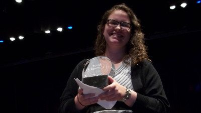 Rachel Kinder received a Silver Garland award for her science-related volunteerism.