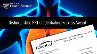 Distinguished RRT Credentialing Success Award