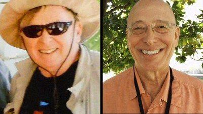 Jim Patton (R) and Polk State Biology Professor Dr. Tony Rizzo