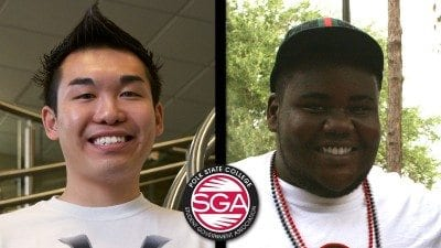 Polk State Lakeland Student Government Association President Chris Ly (L) and Vice President Otis Wilson.