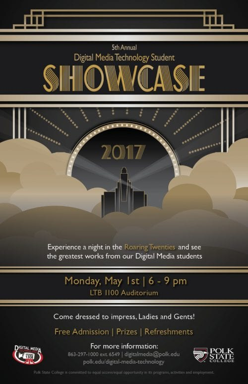 Flyer for the 2017 Digital Media Showcase