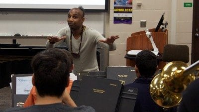 Grammy-nominated Omar Sosa led a workshop with music students at Polk State Winter Haven on Wednesday.