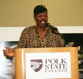 Katrina Lunsford, a vice president with Fifth Third Bank, was the keynote speaker at Tuesday's MLK Breakfast event.