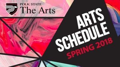 Arts Schedule Spring 2018