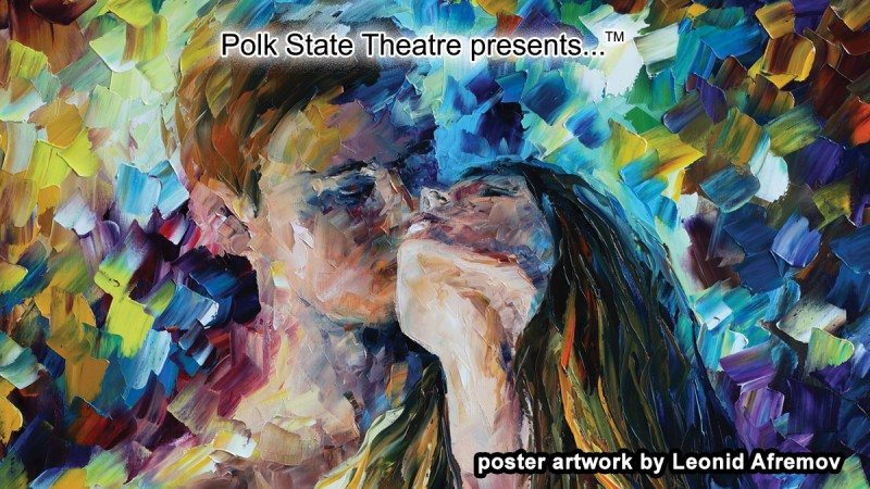 "Leonid Afremov's painting titled ""Close to You"" is one of four being used to promote Polk State Theatre's 2013-14 season."